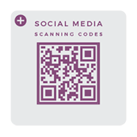Social media QR scanning codes
