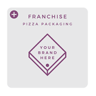 Franchise pizza packaging