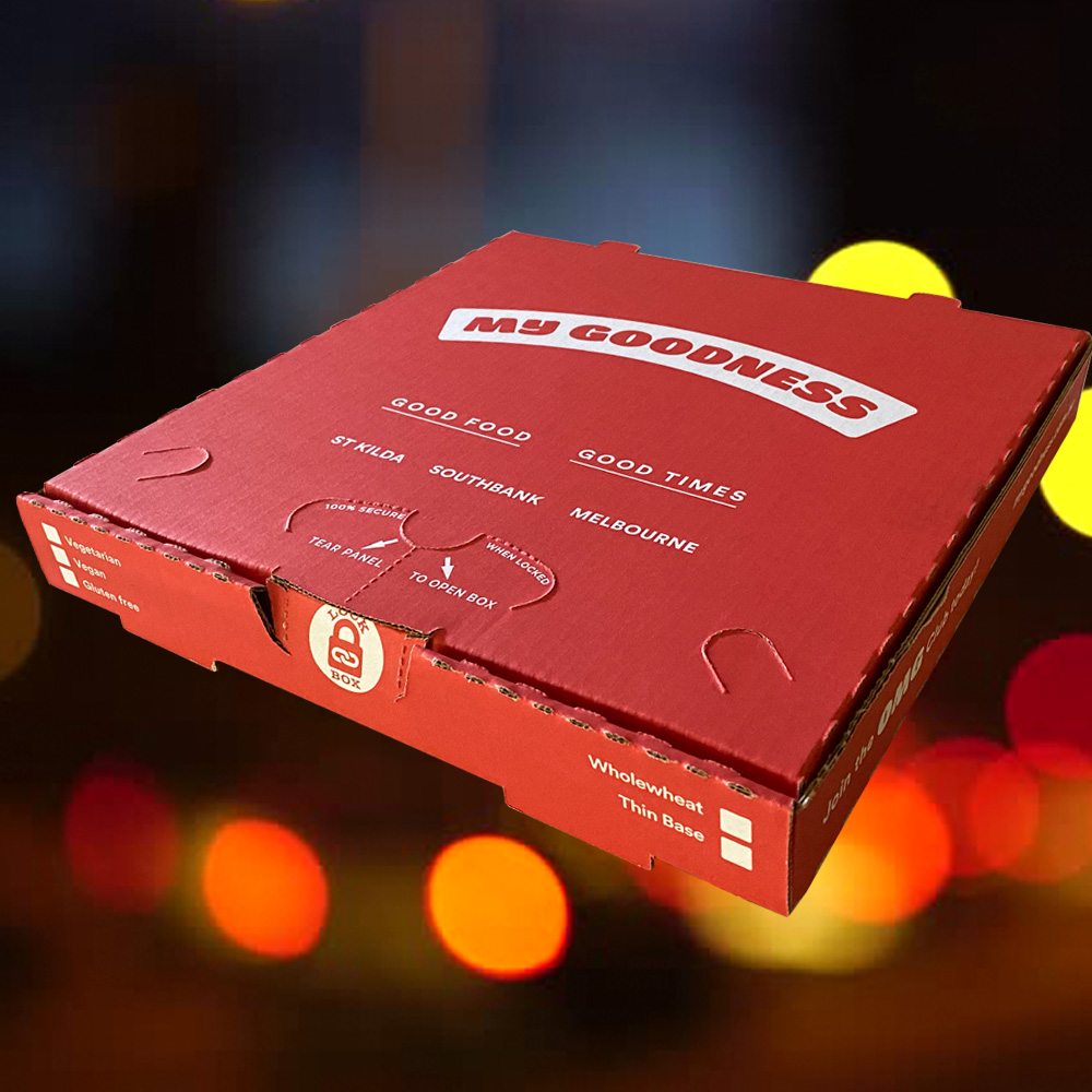 MY GOODNESS CUSTOM BRANDED LOCKABLE PIZZA BOX