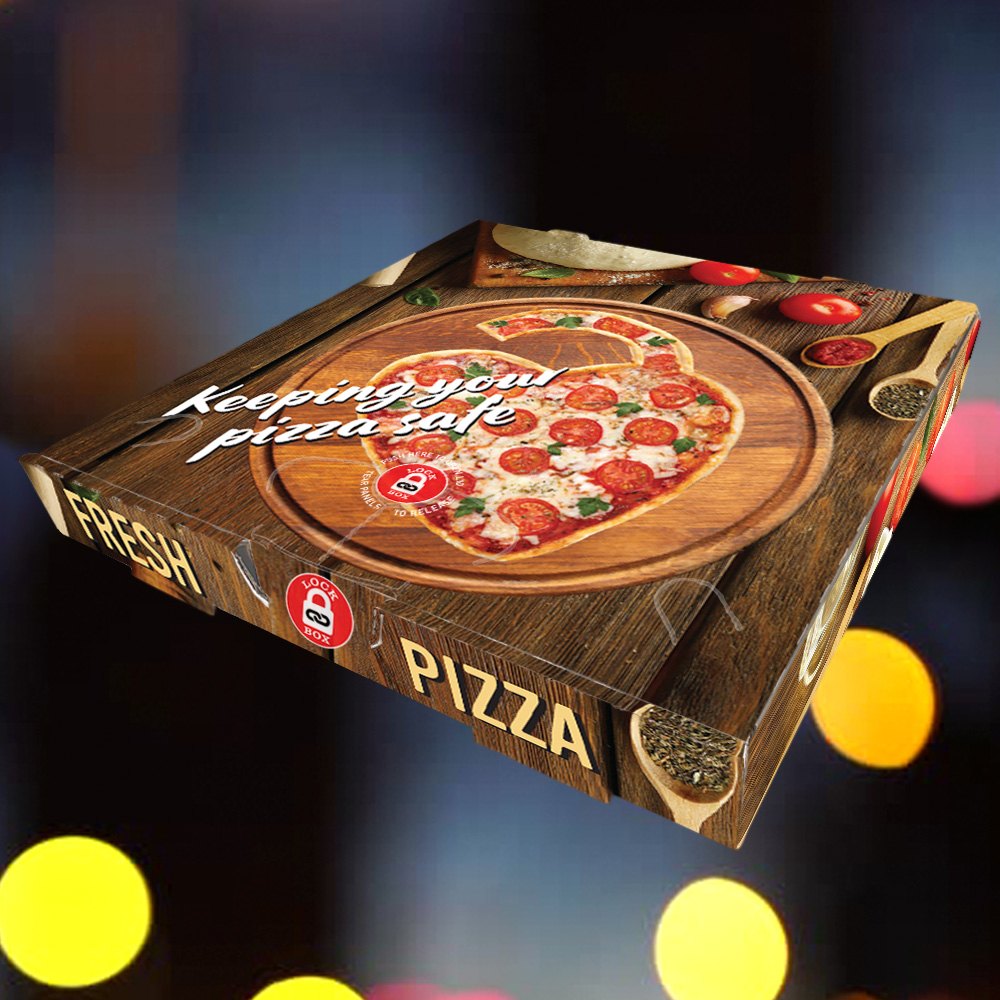 FRESH PIZZA DESIGN CONTACTLESS LOCKABLE PIZZA BOX