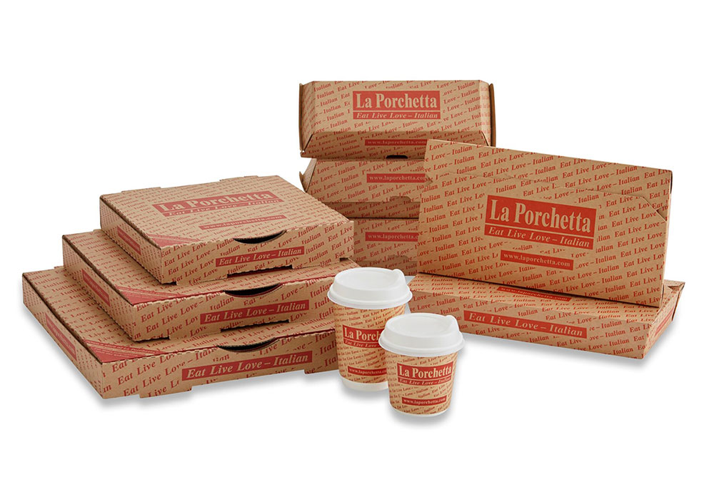 La Porchetta custom pizza packaging