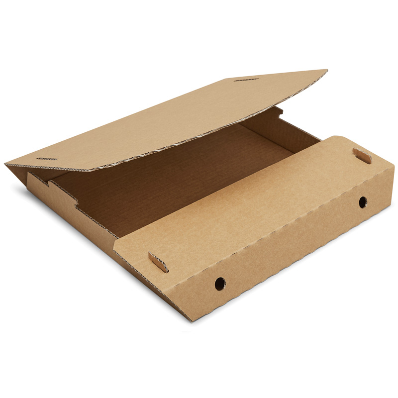 Tamper-proof, environmentally friendly pizza box