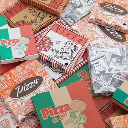 Generic printed pizza boxes